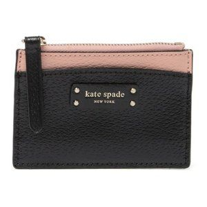 KATE SPADE NEW YORK jeanne small zip leather card